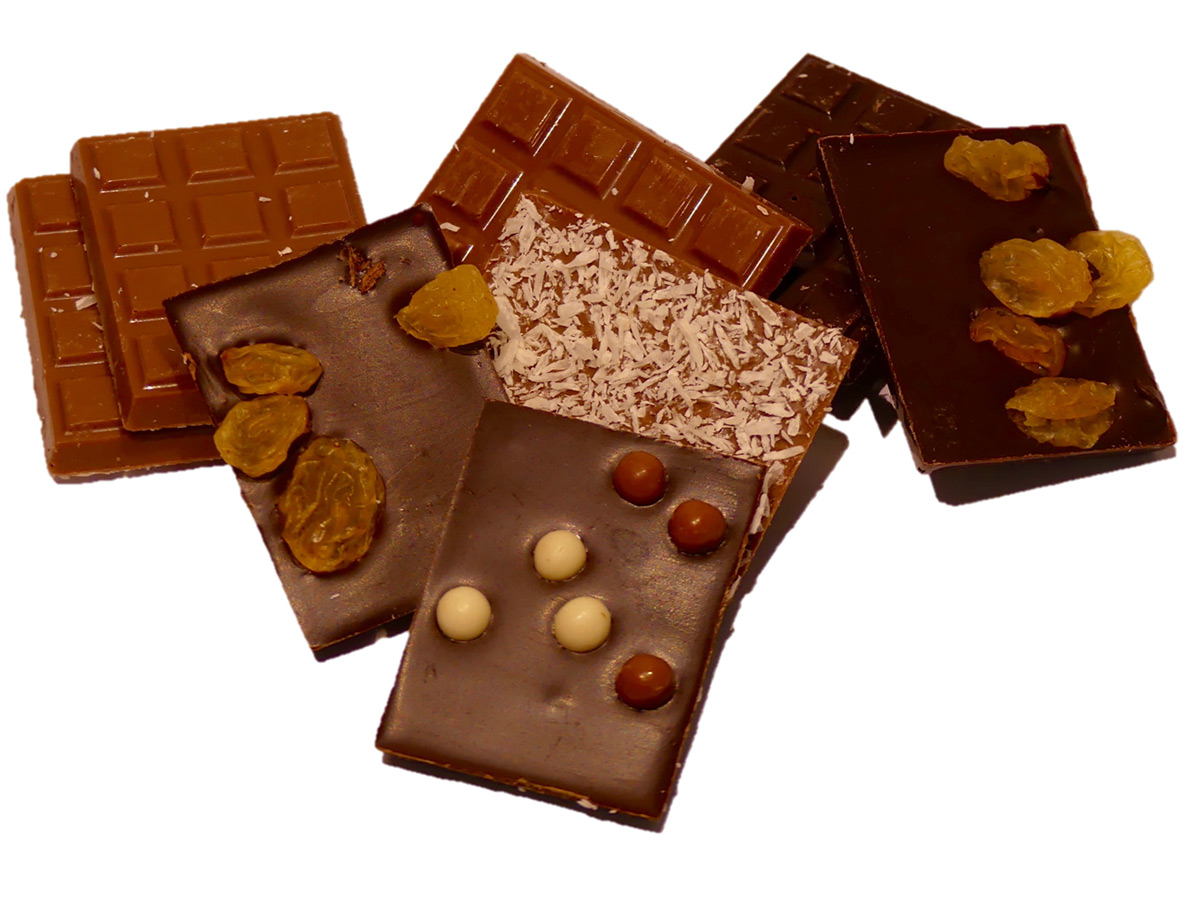 Assortiment de mini tablettes de chocolat